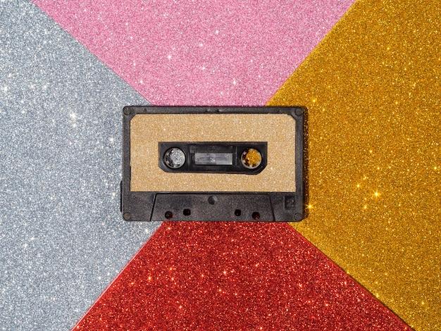 Vergrote weergave van glittertape