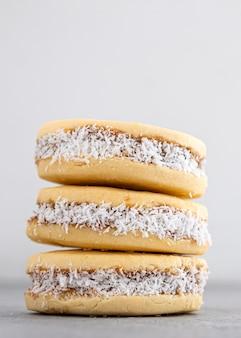 Vergrote weergave van heerlijke alfajores cookies