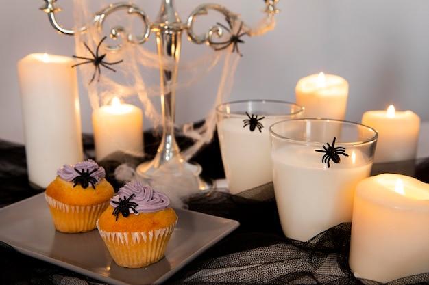 Vergrote weergave van heerlijke halloween-koekjes