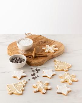 Vergrote weergave van heerlijke koekjes concept