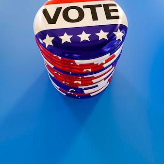 Vergrote weergave van het concept van de verkiezingen in de vs.