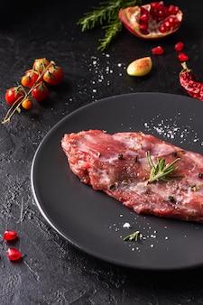 Vergrote weergave van vers vlees concept
