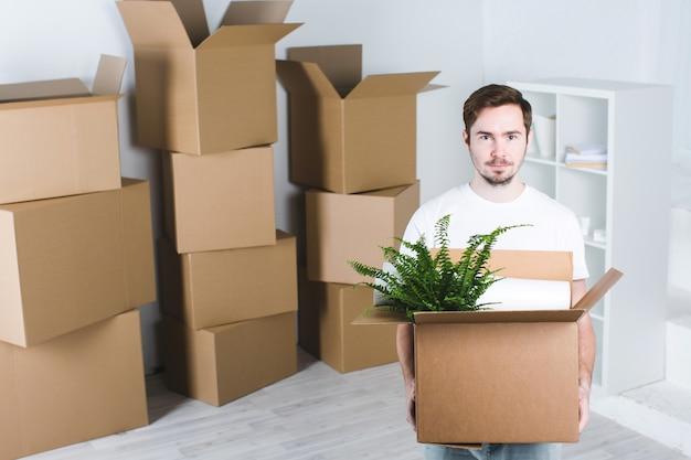 Verhuizen in een nieuw huis.