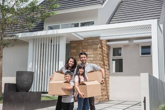 Verhuizen naar nieuw huisconcept