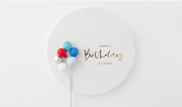Verjaardag achtergrond uitnodiging