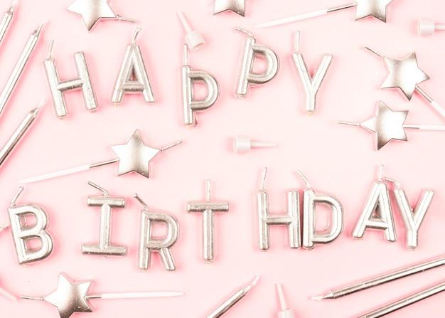 Verjaardag kaarsen regeling bovenaanzicht