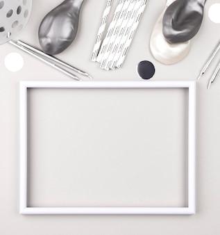 Verjaardag ornamenten op witte achtergrond