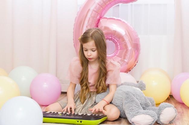 Verjaardag van het meisje, 6 jaar oud