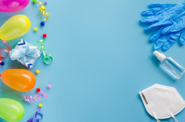 Verjaardagsdecoratie en medische apparatuur