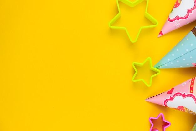 Verjaardagsfeest caps en sterren