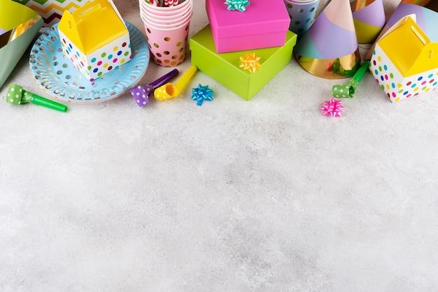 Verjaardagsfeestje ornamenten hoge hoek