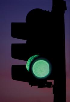 Verkeers groen licht