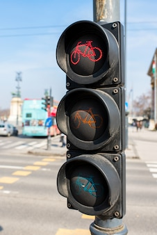 Verkeerslicht voor een fiets in europa