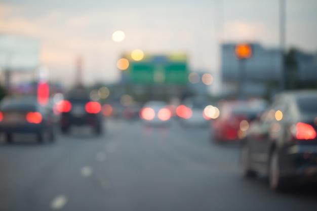 Verkeersopstoppingen in de stad - spitsuur-softfocus en wazig