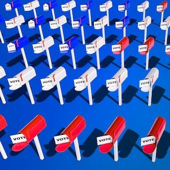 Verkiezingen in de verenigde staten stemmen concept