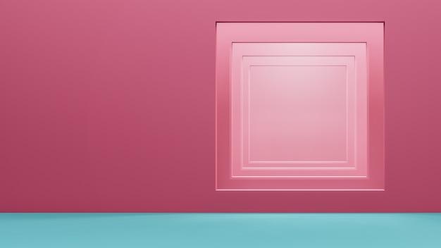 Verkoop display achtergrond 3d render.