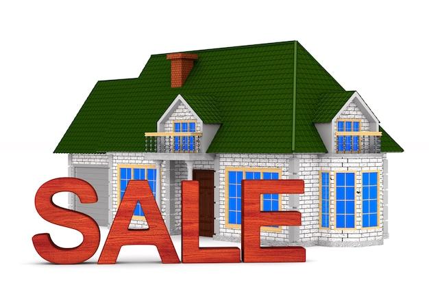 Verkoop huis op witte ruimte