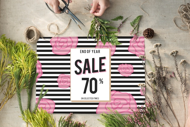 Verkoop korting winkelen shopaholics promotie concept