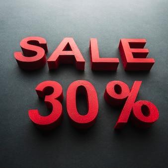 Verkoop met dertig procent korting