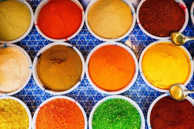 Verkoop van specerijen op de markten van goa en andere staten