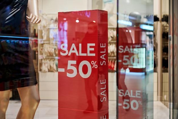 Verkooptijd in europees winkelcentrum