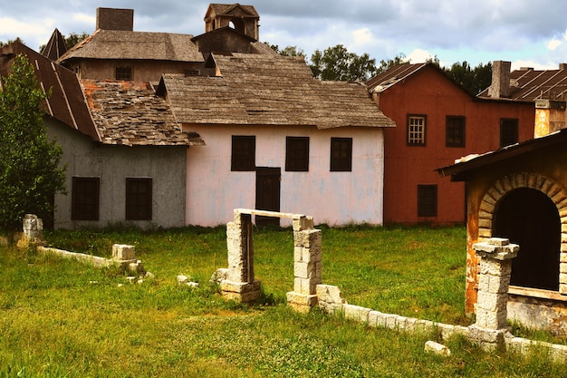 Verlaten oud dorp