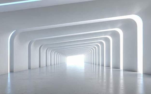 Verlicht interieurontwerp van de gang