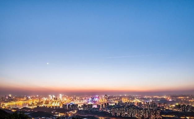 Verlichte stad