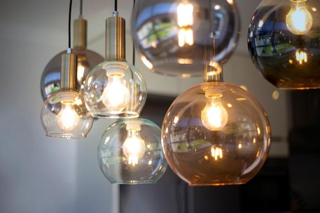 Verlichting decor, mooie retro luxe decoratie gloeilamp lampen decor voor modern huis, stijlvol