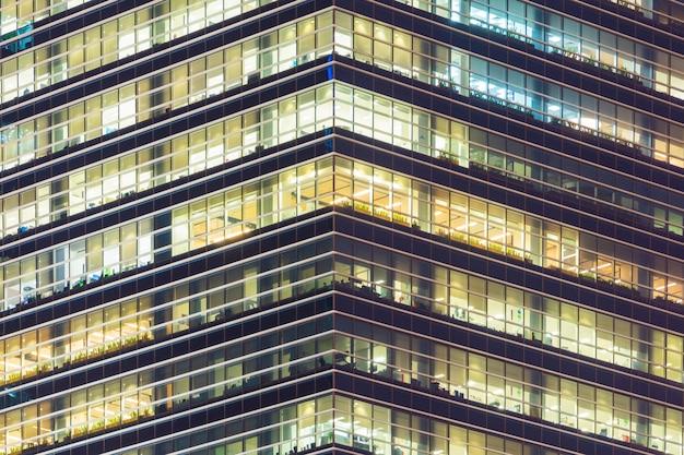 Verlichting van windows wolkenkrabber.