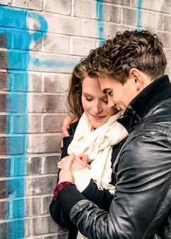 Verliefd stel - begin van een liefdesverhaal
