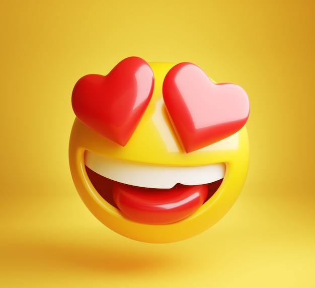 Verliefd worden emoji 3d