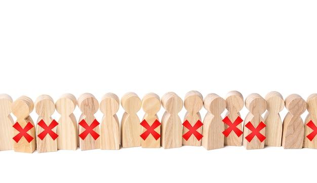 Verlies van banen en massale banenverlies van personeel.
