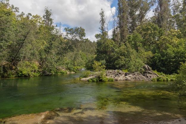 Verloop van de rivier de oitaven in galicië