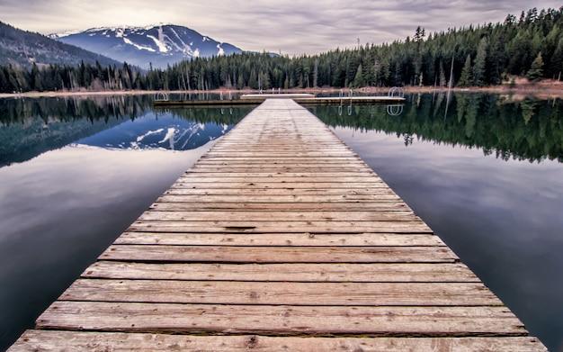 Verloren lake dock in whister bc, canada