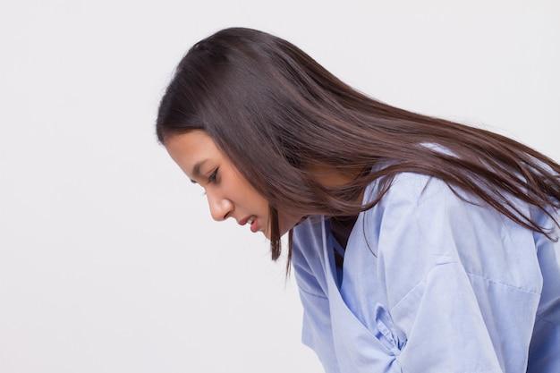 Vermoeide uitgeputte vrouw zonder uithoudingsvermogen