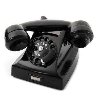 Verouderde telefoon op zwart