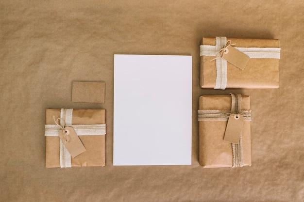 Verpakkingsconcept met document