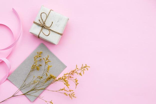 Verpakt cadeau met exemplaarruimte