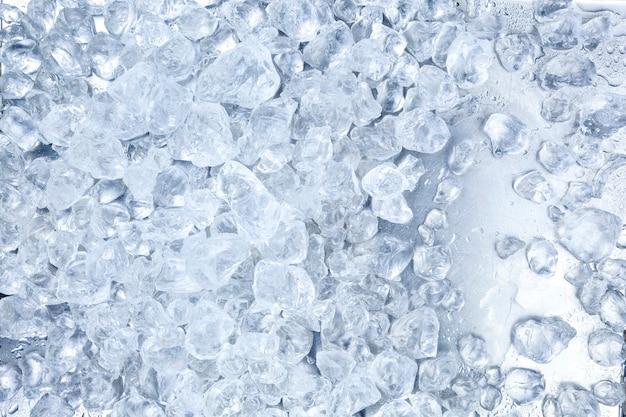 Verpletterde ijsachtergrond.