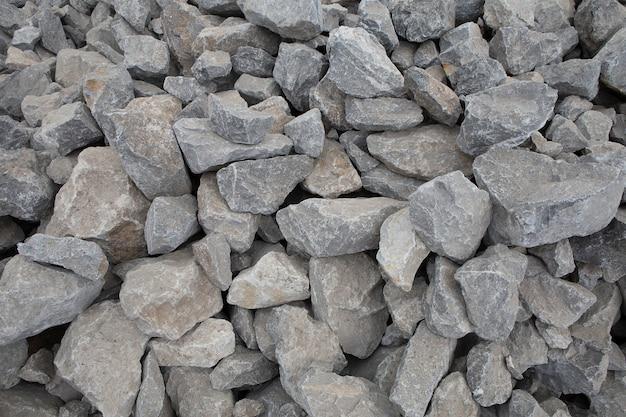 Verpletterde steentextuur. bouwstenen van steenslag.