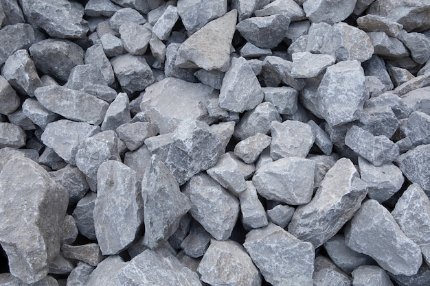 Verpletterde stenen bouwmaterialen