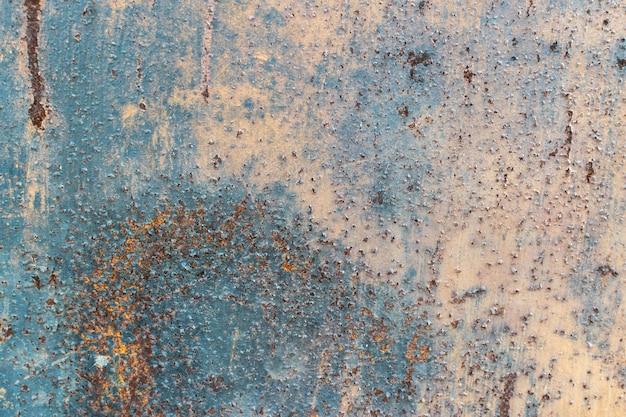Verroeste geschilderde metalen textuur achtergrond