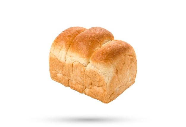 Vers brood of broodje op geïsoleerde witte achtergrond