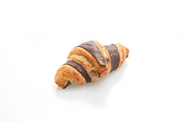 Vers croissant met geïsoleerde chocolade