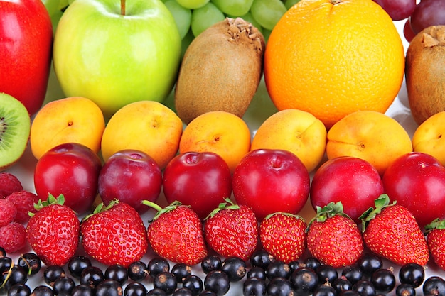 Vers fruit en bessen close-up