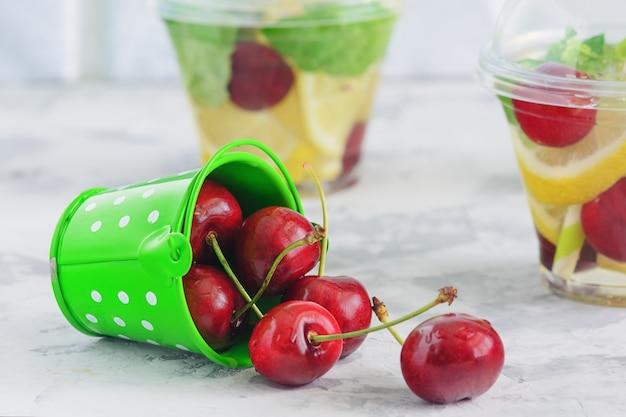 Vers fruit toegediend water organisch detox-programma