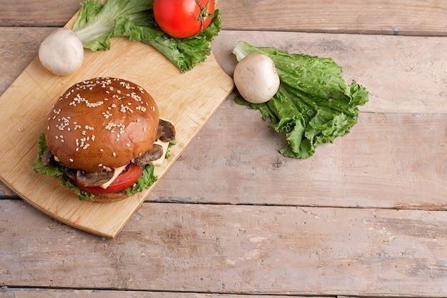 Vers gegrilde champignonburger
