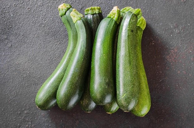 Vers geoogste courgettes