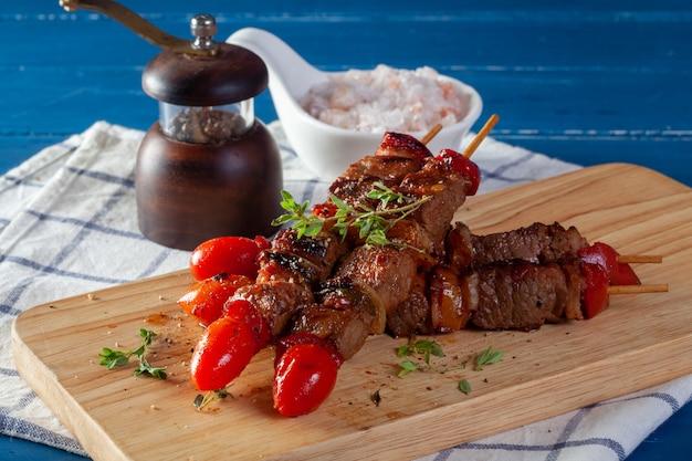 Vers rundvlees koken bar-bq